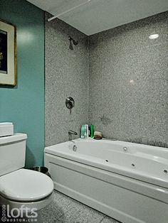 whirlpool tub with shower surround dont like the color of the walls or the shower surround