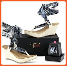 Size 10 Tuso Beige Wedges - Sandals for women (*Amazon Partner-Link)