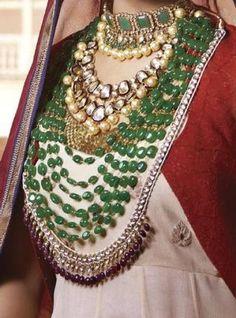 mughal jewelry, emerald