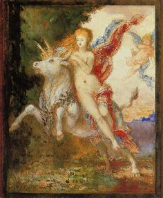 The Abduction of Europa - Gustave Moreau  1869
