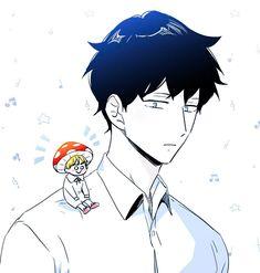 Hyesung the mushroom Manga Art, Anime Manga, Anime Guys, Anime Art, Bl Comics, Manga Comics, Illusion Quotes, Mpreg Anime, Manga Couple