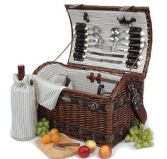 Willow picnic basket with deluxe for With cotton lining and made of willow sea-grass and wood chip,this new shape basket is the ideal gift for any occasions Tumbler Ceramic plates Ea. Wicker Picnic Basket, Picnic Bag, Wicker Baskets, Beach Picnic, Summer Picnic, All You Need Is, Wooden Cheese Board, Picnic Essentials, Picnic At Ascot