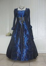 Medieval Renaissance dress gothic  whitby wedding masquerade ball gown 20 22 24