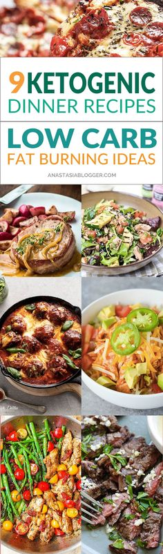 Try these 9 Easy Keto Recipes for a Healthy Dinner for your Ketogenic diet. Improve your keto mealplan with these easy low-carb Keto ideas that will help you burn fat and lose weight faster! Ketogenic fat bombs will help in your winter diet when you need Low Fat Low Carb, Low Fat Diets, Low Carb Keto, Keto Foods, Low Carb Dinner Recipes, Keto Dinner, Healthy Diet Recipes, Ketogenic Recipes, Keto Meal Plan