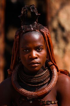 Himba girl by aftab. African Tribes, African Women, African Life, Black Is Beautiful, Beautiful People, Himba Girl, Himba People, African Image, Tribal Women