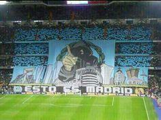 Very impressive display by Real Madrid fans Real Madrid Cr7, Real Madrid Champions League, Uefa Super Cup, Santiago Bernabeu, Soccer Fans, Football Fans, World, Gabriel, Cyber