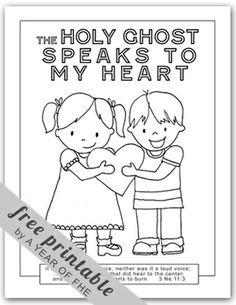 Holy Ghost coloring page. FREE via A YEAR OF FHE.