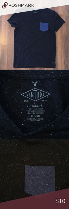 American Eagle Outfitters Men's tee Men's vintage fit pocket tee. Cool speckled pattern. Bundle with other AE tees in my closet!! American Eagle Outfitters Shirts Tees - Short Sleeve