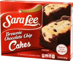 Brownie chocolate chip cakes