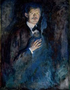 Self-portrait with Cigarette by Edvard Munch (1895)