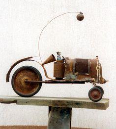 Творчество глазами Gerard Cambon. / Арт (изобразительное искусство в стиле стимпанк) / Коллективные блоги / Steampunker.ru - сеть для любителей steampunk'а Metal Sculpture Artists, Found Object Art, Art Brut, Junk Art, Assemblage Art, Objet D'art, Outsider Art, Recycled Art, Wire Art
