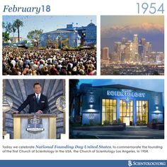 Today we celebrate National Founding Day United States, to commemorate the founding of the first Church of Scientology in the USA, the Church of Scientology Los Angeles, in 1954.