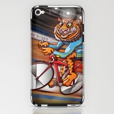 Olympic Cycling Tiger iPhone & iPod Skin