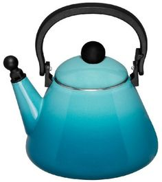 le creuset teal kettle