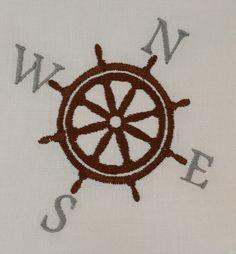 Digital Embroidery Design Nautical by EmbroideryDesignsBRN Nautical Compass, Embroidery Designs, Stitch, Sewing, Digital, Handmade, Stuff To Buy, Full Stop, Dressmaking