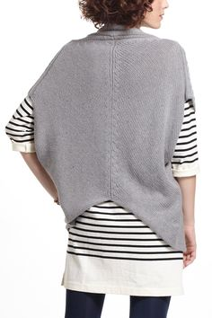 Ribbed High-Low Sweatervest