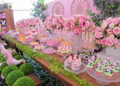 Decoração da festa: Fazendinha Rosa!   Guia Tudo Festa - Blog de Festas - dicas e ideias!