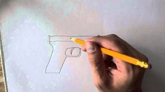 Learn how to draw a pistol in this demonstration tutorial Learn To Draw, Make It Yourself, Drawings, Youtube, Training, Journal, Art, Learn Drawing, Art Background