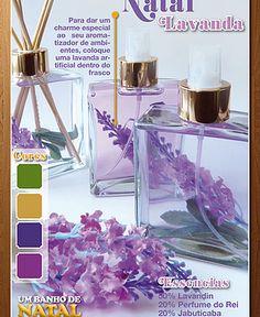 Lavanda no frasco de aromatizante=charme especial