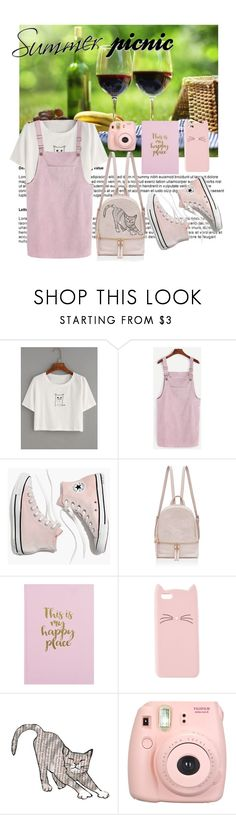 """Pinki cat summer Picnic"" by sylvania-dark ❤ liked on Polyvore featuring WithChic, Madewell, Charlotte Russe, Del Gatto, Fujifilm and summerpicnic"