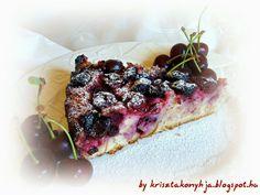 Kriszta konyhája- Sütni,főzni bárki tud!: Paleo meggyes pite