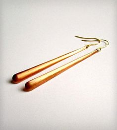 Copper Paddle Earrings by Phul Effect Jewelry - simple, perfect, gorgeous. #dreamweekender