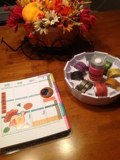 my Erin Condren planner & washi tape dispenser!  :)