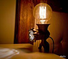 Meat grinder lamp