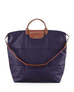 Le Pliage Expandable Travel Bag, Bilberry