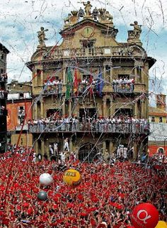 Chupinazo  San Fermín  Pamplona  7 de Julio