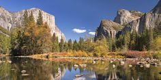 An poster sized print, approx (other products available) - Valley View of El Capitan from the Merced River, Yosemite, California, USA. Autumn (October) - Image supplied by AWL Images - poster sized print mm) made in Australia October Images, National Geographic Photography, Merced River, Places In America, Valley View, California Travel, Yosemite California, Travel Images, Go Camping