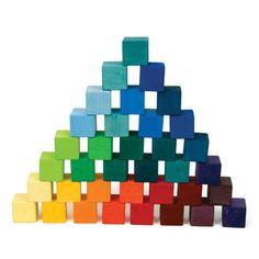 36 Wooden Building Cubes