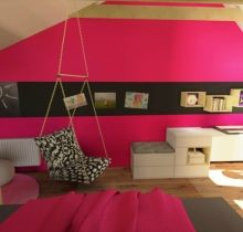 Růžový dětský pokoj | Andrea Krejčířová - Interiérový design