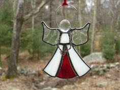 Birthstone angel stained glass .