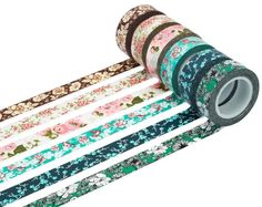 Washi tape in an array of lovely floral prints.