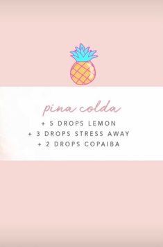 I think it's supposed to be piña colada, but sounds nice! Essential Oils Cleaning, Essential Oil Uses, Doterra Essential Oils, Young Living Essential Oils, Yl Oils, Perfume Hermes, Essential Oil Diffuser Blends, Diffuser Recipes, Aromatherapy Oils