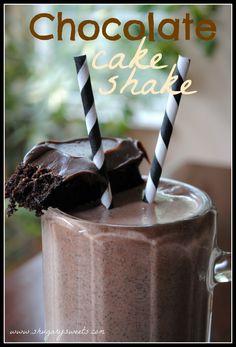 Chocolate Cake Shake #portillos @shugarysweets
