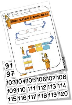 Bout de gomme - so many worksheets that are visually catching and organized Math Numbers, 2nd Grade Math, Teaching Resources, Worksheets, Homeschool, Classroom, Education, Apc, Integers