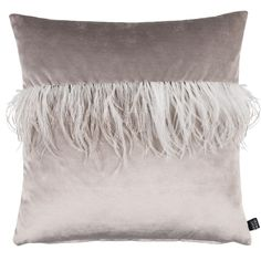 Joselyn Feather Pillow, Grey. Shop ||  Anderson Design Studio - Interior Design  #Eightmood #CountryMood #AndersonDesignStudio #GiftIdeas #InteriorDesign #Joselyn