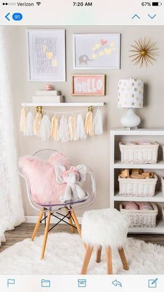 How sweet is this play room set-up for a little girl? – Kids Room Ideas How sweet is this play room set-up for a little girl? – Kids Room Ideas How sweet is this play room set-up for a little girl? Teenage Girl Bedroom Designs, Teenage Girl Bedrooms, Kids Bedroom, Bedroom Decor, Kids Rooms, Diy Girl Room Decor, Girl Toddler Bedroom, 6 Year Old Girl Bedroom, Childrens Bedroom