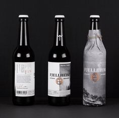 """""""Fjellheim is a Norwegian micro brewery that believes in bridging the ancient with the modern and the earthy with the refined, while staying true to the unique characteristics of the Nordic culture and landscape. The identity and packaging is based on the simple, unblemished honesty of Norwegian nature, while at the same time paying tribute to the Scandinavian qualities of authenticity of materials, painstaking craftsmanship and calm yet emotional design.""""…"""