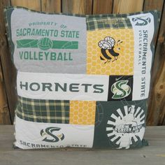 T-Shirt Pillow - Volleyball - Sacramento State