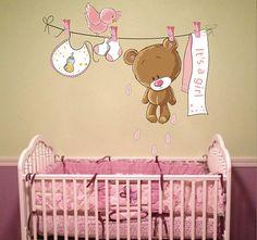 kcik4 Full Color Bear Poultry girl children's room