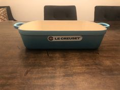 LE CREUSET SIGNATURE LARGE/ DEEP ROASTER PAN CASSEROLE. COLOR: CARIBBEAN TURQUOISE BLUE SIZE: 5.25 QT WARRANTY: LIFETIME MATERIAL ENAMELED CAST IRON (BRAND NEW IN ORIGINAL BOX) The even heat distribution of this versatile enameled cast iron roaster makes it ideal for oven-roasted chicken breasts, homemade lasagna, casseroles and side dishes. Taking a cue from our iconic Dutch ovens, we've added our signature loop handles for easier lifting when wearing oven mitts. Roasted Chicken Breast, Oven Roasted Chicken, Cast Iron, It Cast, Le Creuset Cookware, Homemade Lasagna, Dutch Ovens, Chicken Breasts, Coffee Cups
