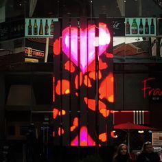 Digital Light, Light Installation, Leicester, Fair Grounds, Neon Signs, Valentines, Sculpture, Mood, Twitter