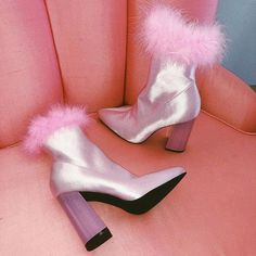 Free, fast shipping on Luv Me Or Hate Me Marabou Boots at Dolls Kill, an online boutique for kawaii fashion. Shop Sugar Thrillz sweet sassy clothing, cute heels, & girly accessories here. High Heel Boots, Heeled Boots, High Heels, Dr Shoes, Shoes Heels, Fuzzy Heels, Dolls Kill Shoes, Cutout Boots, Aesthetic Shoes
