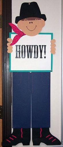 bulletin board ideas School Door Decorations, Class Decoration, Cowboy Theme, Western Theme, Classroom Organisation, Classroom Themes, School Themes, School Fun, Cowboy Bulletin Boards