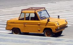 """С3Д"" or Invalidka, A Soviet car for disabled people.Complete with a motorcycle engine."