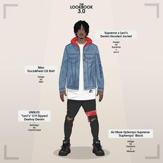 "433 mentions J'aime, 6 commentaires - Cherif Slimane K. (@cappiekaldi) sur Instagram : ""Whats your thoughts about the  @supremenewyork x @levis Drop? Here's the homie @playboicarti…"""