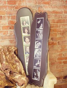 I might make one of these, but not a frame...just a chunk of wood, paint and mod podge photos straight on the wood!